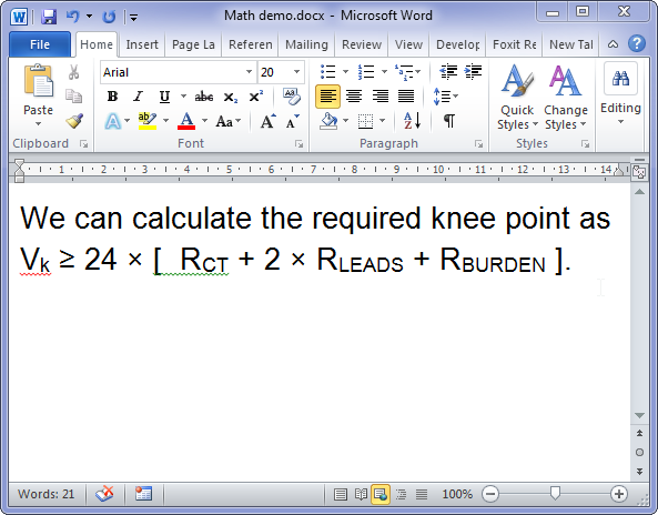 Ms Word Tricks Typing Math Symbols